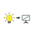icon concept glowing light bulb with sales vector image vector image