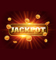 jackpot design background with flying golden coins vector image