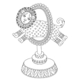line art of circus theme - a lion vector image vector image