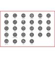 Linear thin icons symbols set vector image vector image
