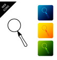 magnifying glass icon isolated on white background vector image vector image