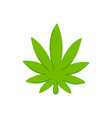 marijuana weed leaf trendty flat line vector image vector image