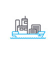 maritime transport thin line stroke icon vector image vector image
