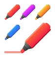 markers set of markers with vector image vector image