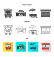 market and exterior symbol vector image