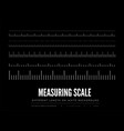 measuring rulers different scale length vector image vector image