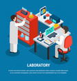 medical laboratory isometric concept vector image