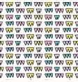 memphis style bunting flags seamless vector image vector image