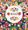 mexico colorful mexican design stylish artistic vector image vector image