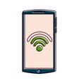mobile phone gadget wifi internet screen vector image vector image