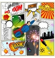 Mock-up of a typical comic book page vector image vector image