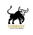 modern angry bull logo vector image vector image