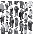 Monochrome People Seamless Pattern vector image vector image