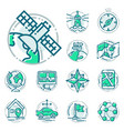 navigation direction maps sign traffic and more vector image vector image