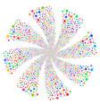 network fireworks swirl rotation vector image vector image