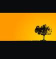 oak tree wallpaper vector image vector image