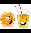 orange and juice vector image vector image