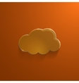 Orange eco glossy glass cloud icon vector image vector image