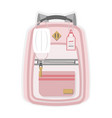 pink kids new normal back to school backpack vector image