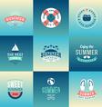 set design elements retro summer holidays vector image