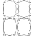 set of frames design elements Editable file vector image vector image