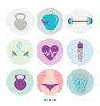 Set of sport healthy lifestyle and fitness vector image vector image