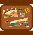south dakota tennessee travel stickers vector image vector image