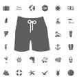 swim suit icon vector image vector image