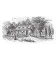 van cortland manor house vintage vector image vector image