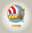 Viking ship sport logo vector image