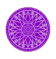 Violet Color Flower mandala over white vector image vector image