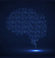 abstract human brain glowing particles vector image vector image