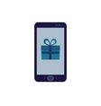 app present on the phone screen vector image vector image