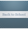 Back to School realistic paper Badge vector image vector image
