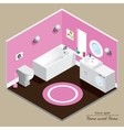 Bathroom 3D interior Pink background vector image vector image