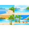 Beach scenes vector image vector image