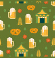 beer and pretzel pattern vector image vector image
