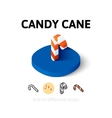 Candy cane icon in different style vector image vector image