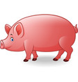 cartoon adult pig vector image vector image