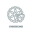cheesecake line icon cheesecake outline vector image vector image