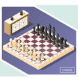chess isometric background vector image