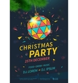 christmas party flyer vector image