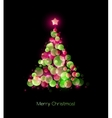 christmas tree greeting vector image vector image