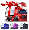 christmas truck vector image