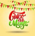 cinco de mayo lettering phrase on background vector image
