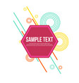 collection abstract geometric style background vector image vector image