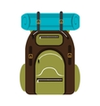 colorful camping backpack graphic vector image vector image