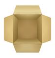 corrugated cardboard box vector image