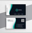 creative company visitng card design vector image vector image