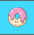 cute donut cartoon character with vector image vector image